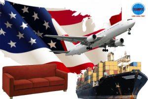 Gửi bàn ghế, đồ nội thất đi Mỹ
