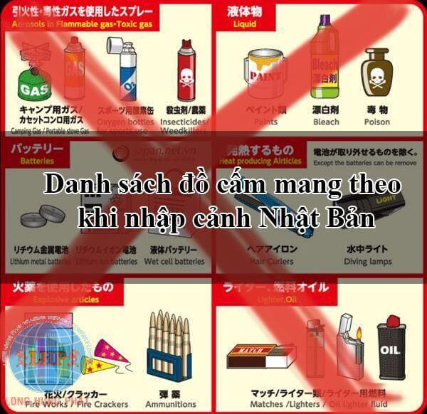 Các mặt hàng cấm gửi đi Nhật