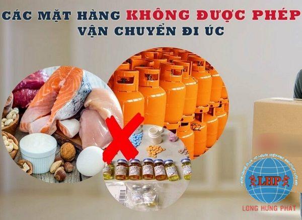 Hàng hoá cấm vận chuyển hàng sang Úc từ Hà Nội