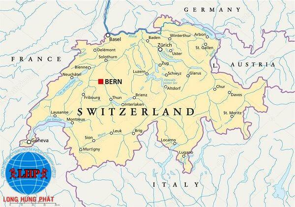 Vị trí địa lý của Swizerland